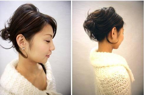 easy updos for short hair