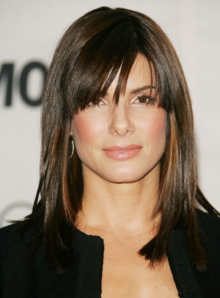 medium length hair styles with bangs